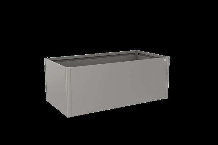 Laubner Biohort Hochbeet 2x1 201 X 102 X 77 Cm Quarzgrau Metallic